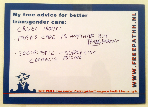 CRUEL IRONY:      TRANS CARE IS ANYTHING BUT TRANSPARANT     SOCIALISTIC - SUPPLY SIDE, CAPITALIST PRICING