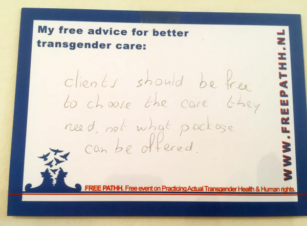 Clients should be free to choose the care they need, not what package can be offered.