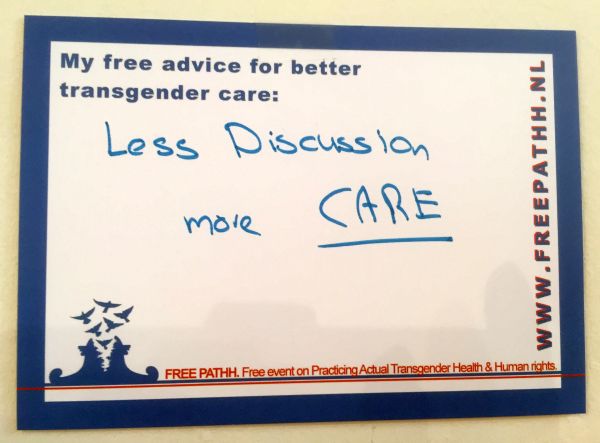 Less discussion, more CARE.