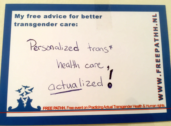 Personalized trans* health care, actualized!